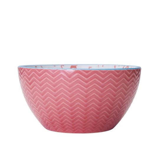 Pink Flamingo Soup Cereal Bowl