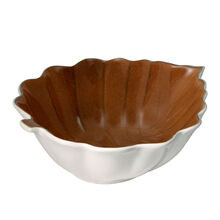 Brown Leaf Serve Bowl