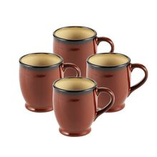 Set of 4 Red Mugs
