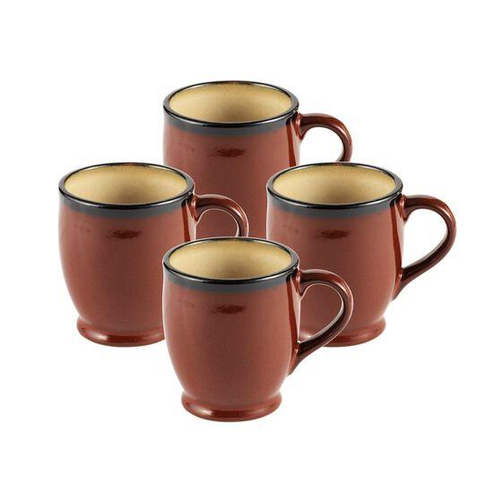 Set of 4 Red Mugs