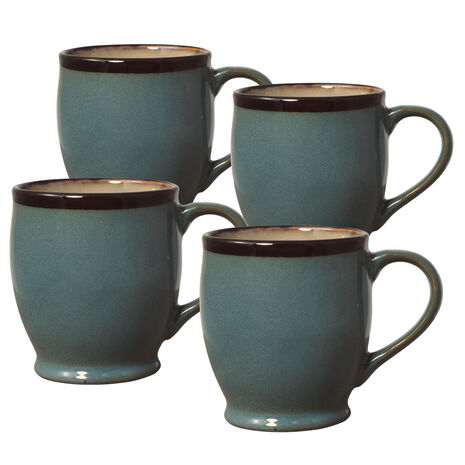 Set of 4 Blue Mugs