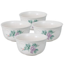 Set of 4 Deep Soup Cereal Bowls