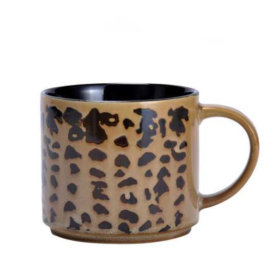 Tan Cheetah Mug