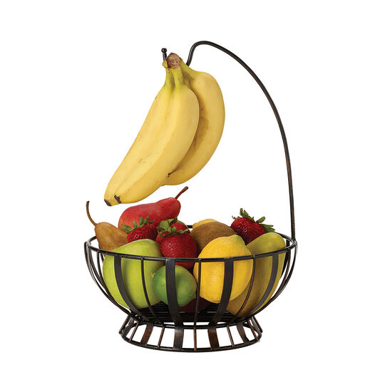 Stripe Fruit Basket With Banana Hook
