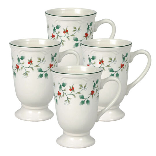 Set of 4 Footed Mugs