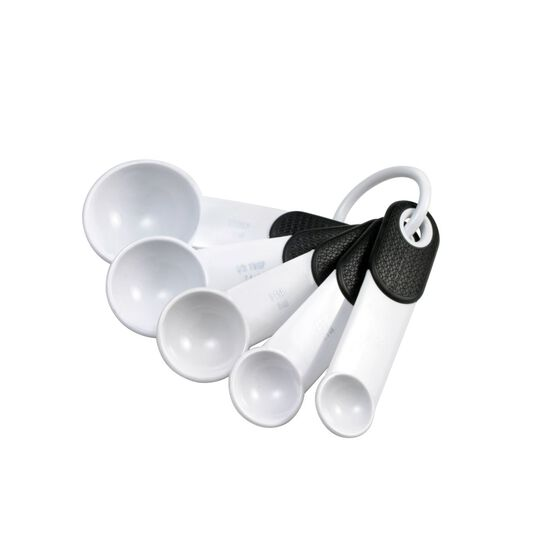 Set of 5 White Measuring Spoons