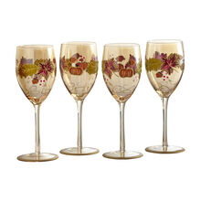 Leaf Luster Wine Glasses, Set of 4
