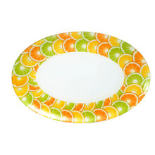 Citrus Oval Glass Platter