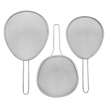 Set of 3 Stainless Steel Sieves