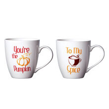 Set of 2 You're the Pumpkin To My Spice Mugs