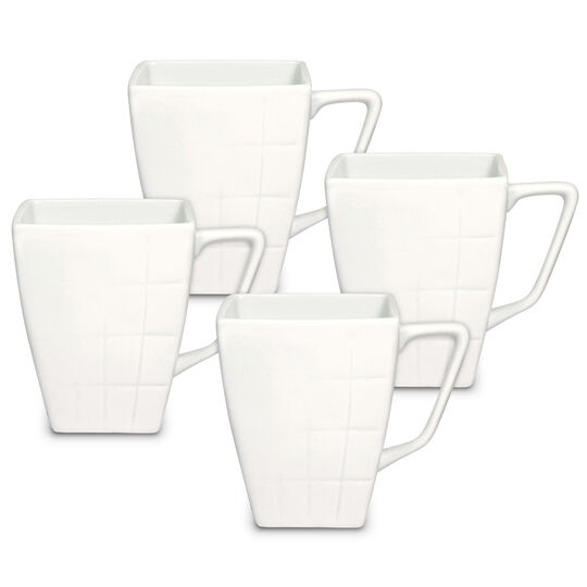 Set of 4 Square Mugs