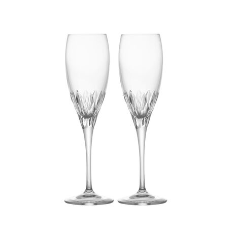 Crystal Champagne Flute Glasses, Set of 2