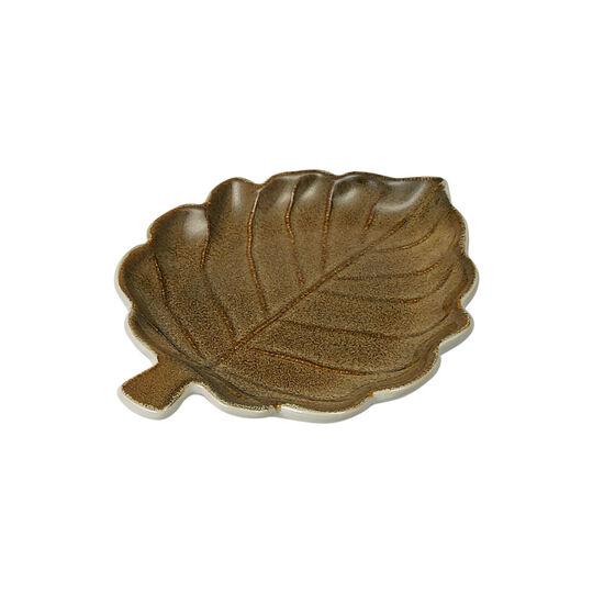 Brown Leaf Appetizer Plate