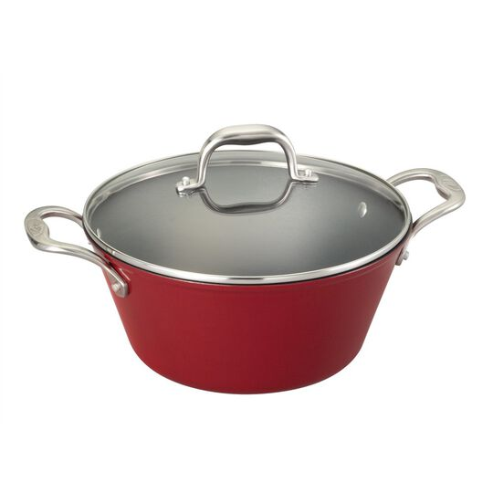5.5 Quart Red Light Weight Cast Iron Dutch Oven