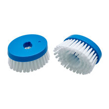Set of 2 Professional Blue Soap Dispensing Brush Replacement Heads
