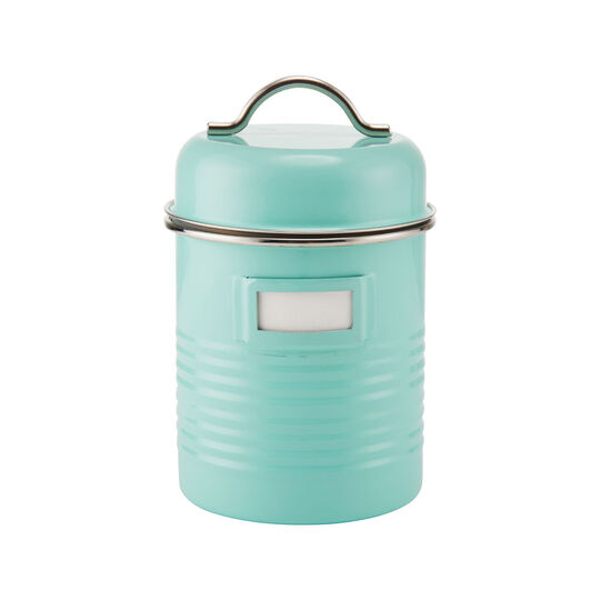 Small Blue Canister with Card Holder