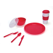 Red Travel 8 Piece Set
