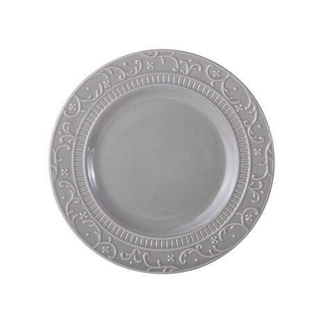 Scroll Grey Salad Plate