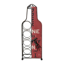 Red Metal Wine Bottle Holder