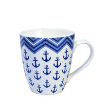 Blue Anchor Chevron Mug