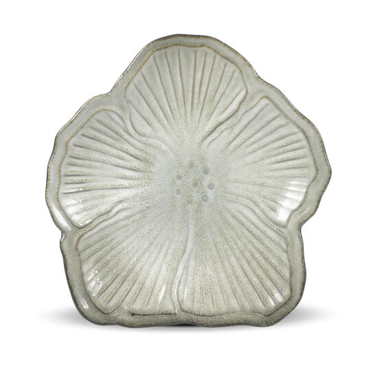 White Floral Appetizer Plate