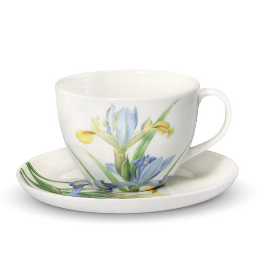 Iris Tea Cup And Saucer Set