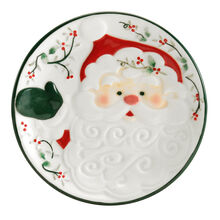 Jolly Santa Sculpted Plate