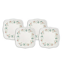 Square Dinner Plates, Set of 4