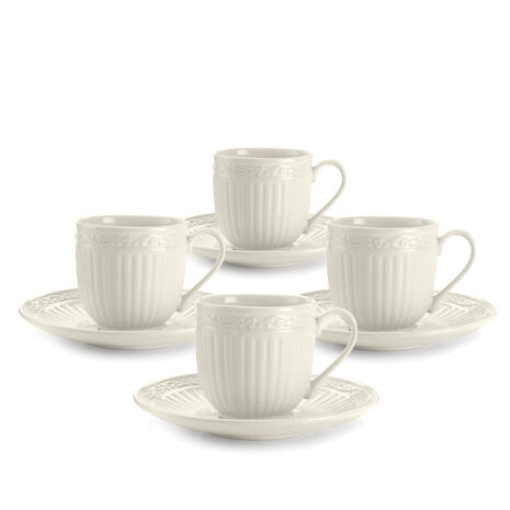 Set of 4 Espresso Cup and Saucers