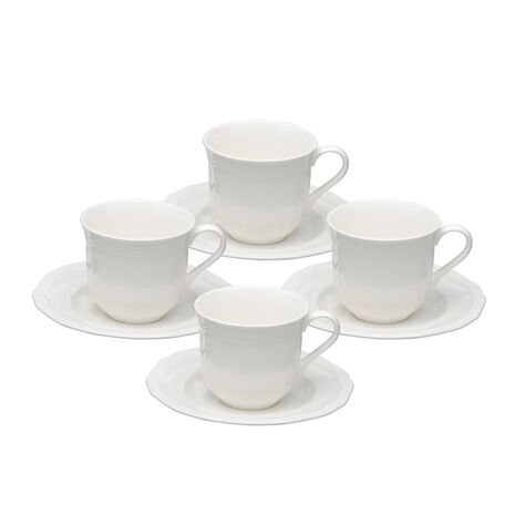 Teacups and Saucers, Set of 4