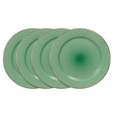 Set of 4 Green Dinner Plates