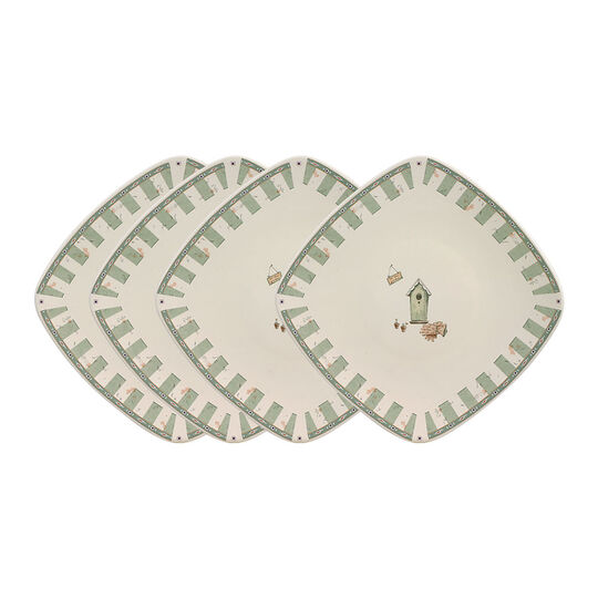 Set of 4 Square Salad Plates