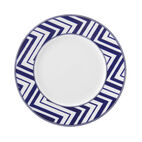 Zig Zag Salad Plate-Cobalt