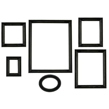 Set of 6 Distressed Empty Frames