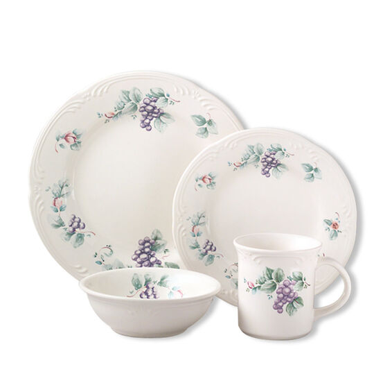 Dinnerware Set, 16 Piece, Service for 4