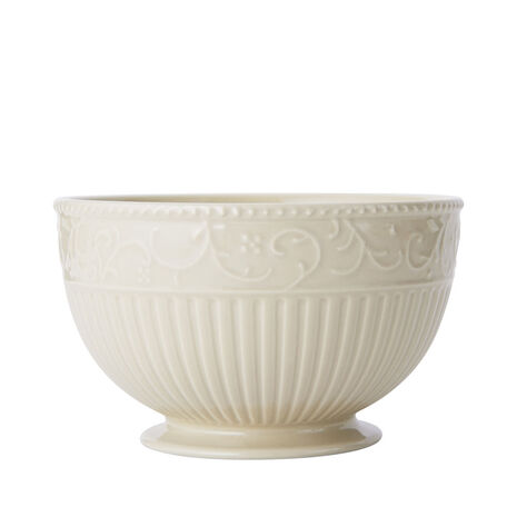 Scroll Beige Cereal Bowl
