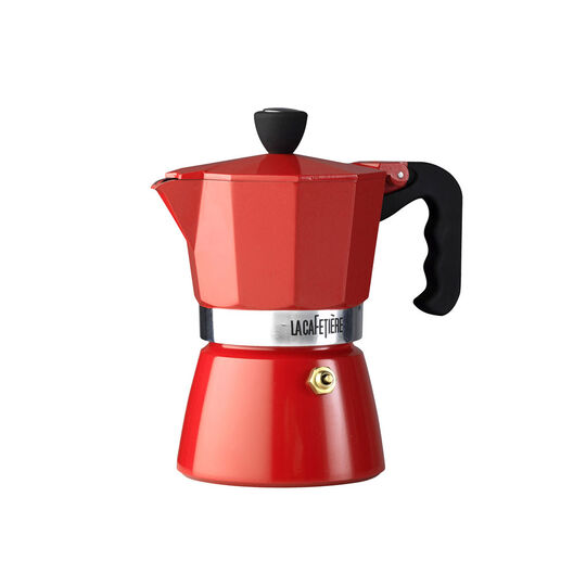 3 Cup Red Espresso Coffee Maker