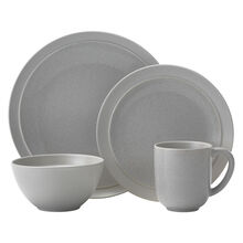 Gray 16 Piece Dinnerware Set