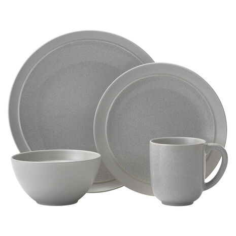 Gray 16 Piece Dinnerware Set