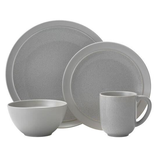 Gray 48 Piece Dinnerware Set