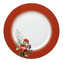 Red Rim Dinner Plate