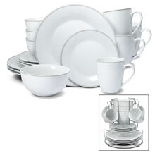 16 Piece Dinnerware Set with Caddy