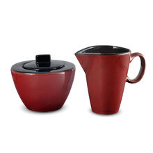 Red Sugar and Creamer Set