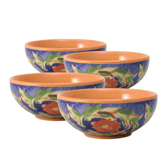 Set of 4 Fleur Soup or Cereal Bowls