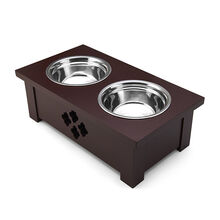 Espresso Dog Dish Holder