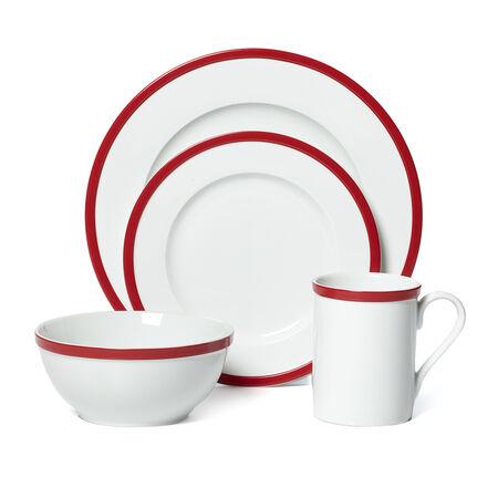 Red 16 Piece Dinnerware Set