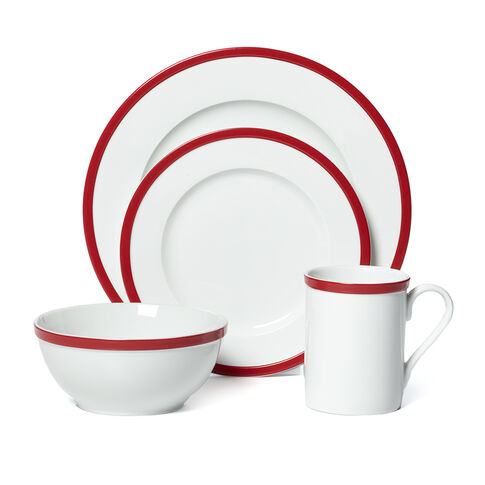 Red 16 Piece Dinnerware Set