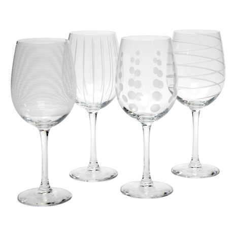 Set of 4 White Wine Glasses