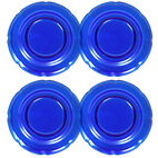 Set of 4 Cobalt Glass Salad Plates
