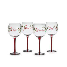 Set of 4 Sentiments Wine Glasses